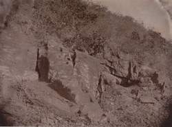 Rocks and cave entrance, Gridhrakuta Hill, Rajgir 1003211e
